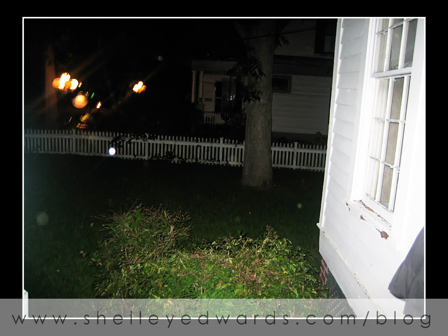 "More orbs!  They were in front on a house that ""they say"" is haunted.  The story goes that a phone rang asking for the neighbor that lived next door - but the phone service wasn't connected yet!"